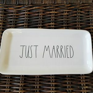 Rae Dunn JUST MARRIED Platter Tray